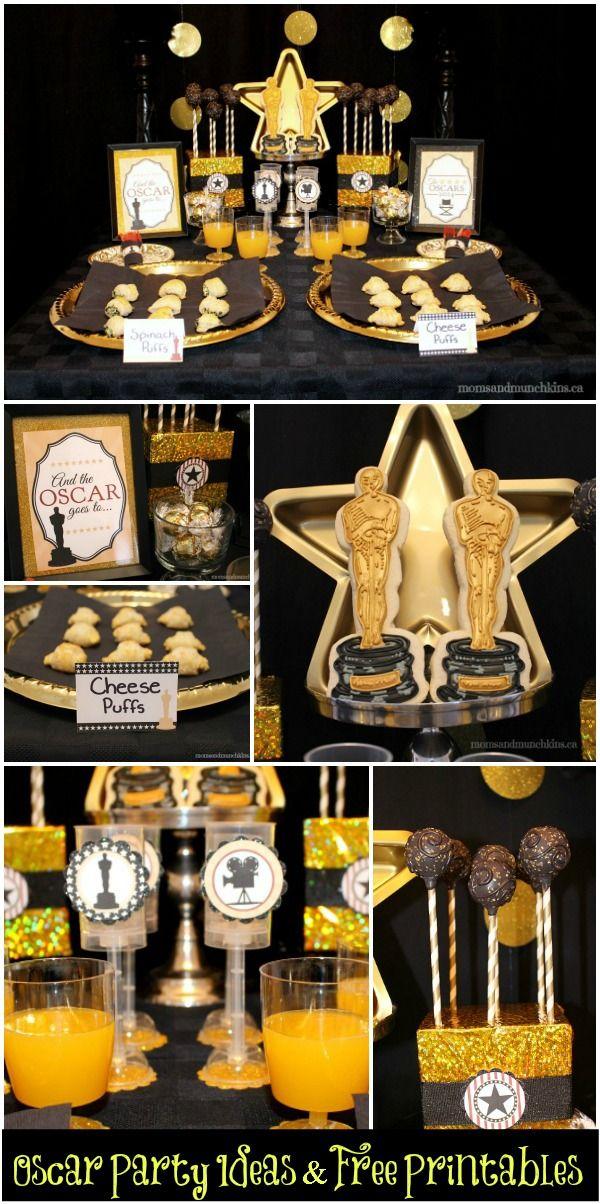 Oscar party ideas free printables oscar party for Oscar decorations