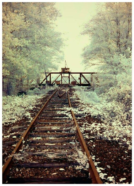 Old Train Bridge  fine art photographic print by dancingstarbeads, $8.00