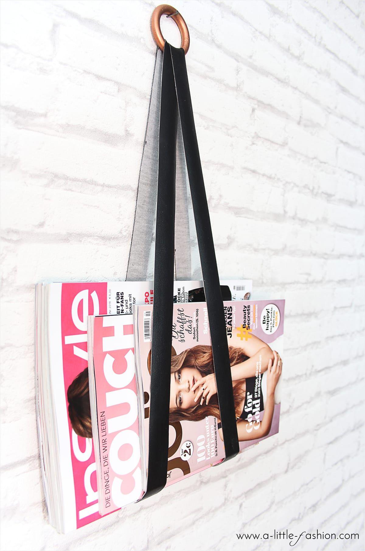 diy magazin-halter | deko diy | pinterest | leather crafts, project