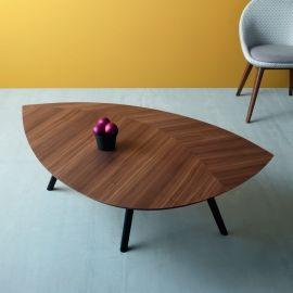 Tavolino design a forma di foglia Francis