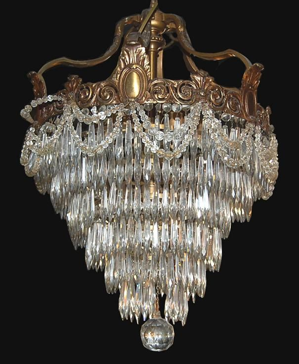 Circa 1880 french bronze and crystal waterfall chandelier from circa 1880 french bronze and crystal waterfall chandelier from legacy antique furniture lighting decorative aloadofball Gallery