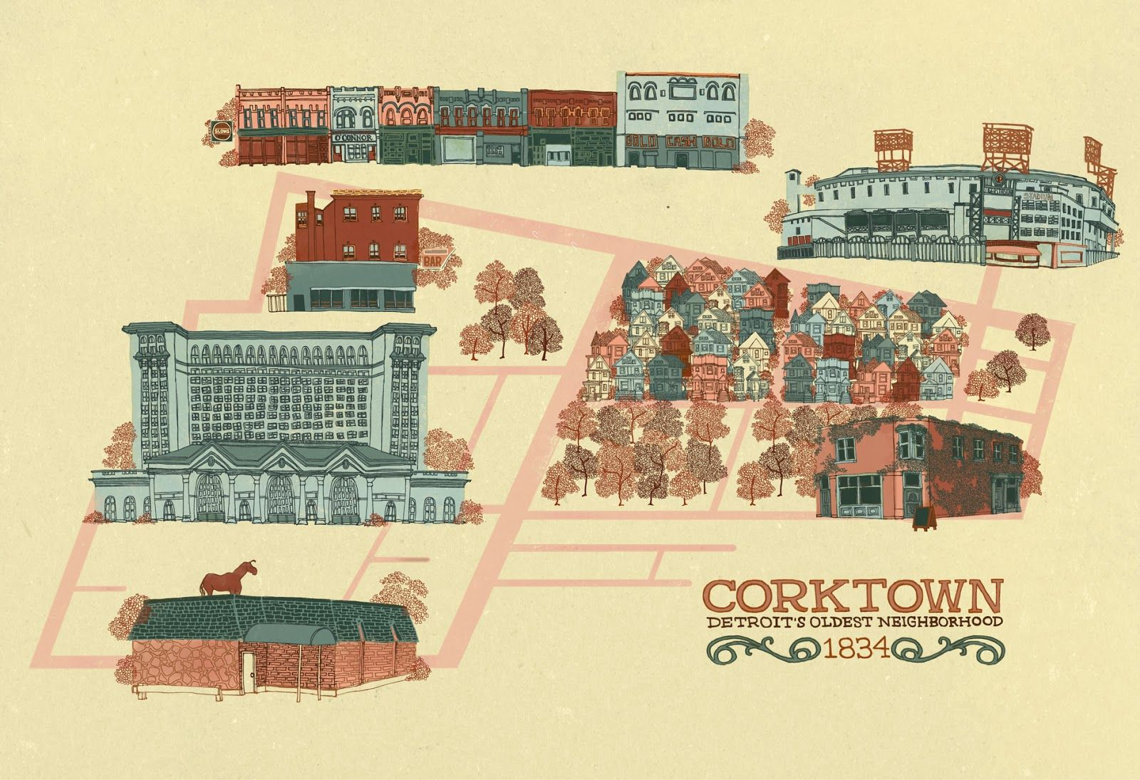 map of corktown detroit Corktown Map Corktown Detroit Neighborhoods Detroit map of corktown detroit