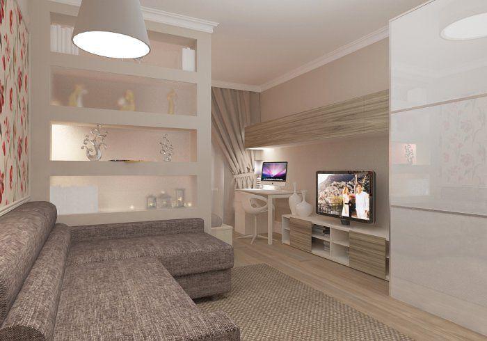 дизайн гостиной спальни 16 кв.м Поиск в google décoration