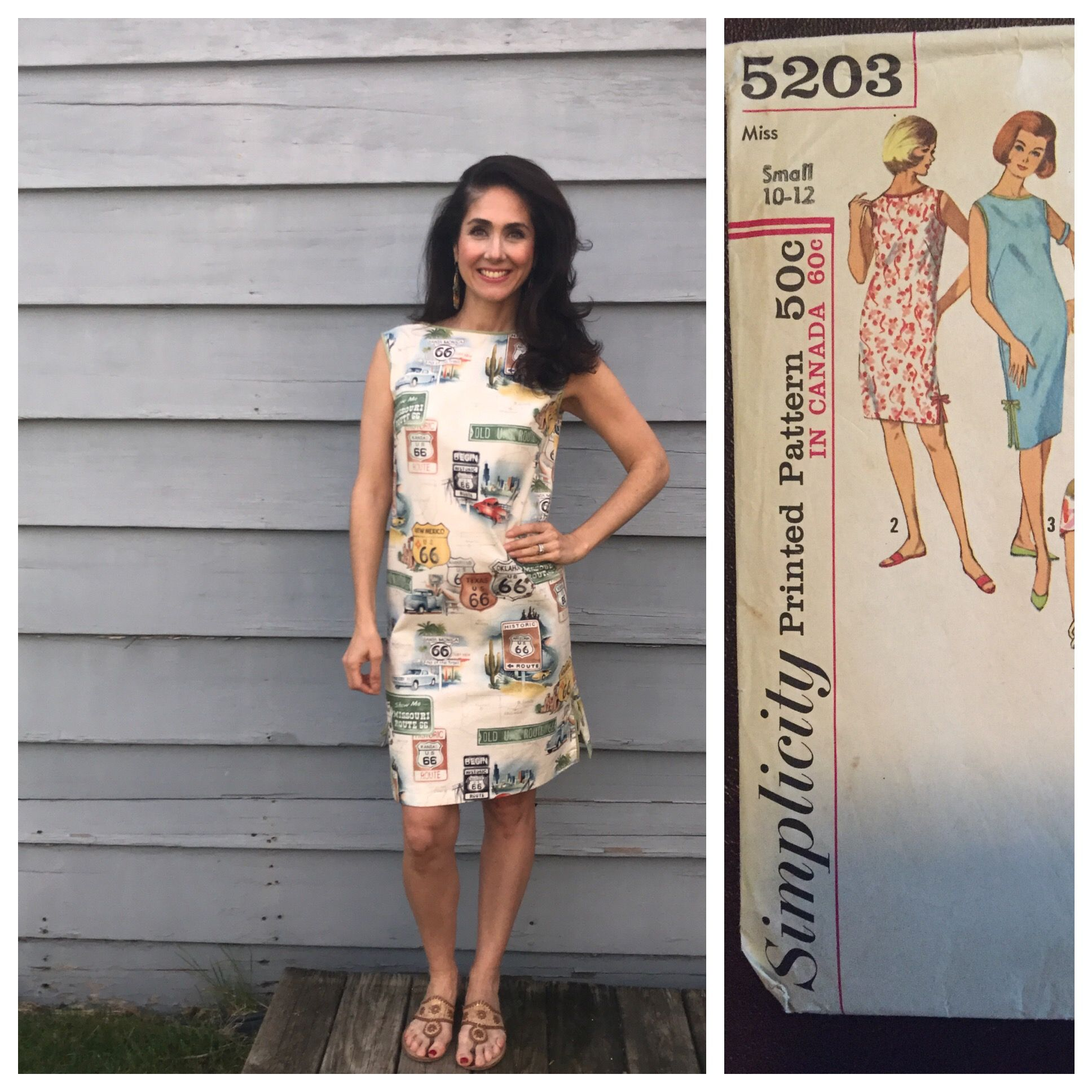 2017 Vintage Pledge Simplicity 5203 View 2 Not Only First Vintage Pattern Sewn But First Pattern Sew Garment Pattern 1960s Shift Dress Handmade Wardrobe
