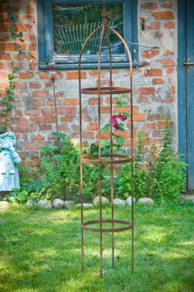 Rankgerust 10mm Massiveisen Obelisk Blumenhilfe 160cm Outdoor Outdoor Structures Garden