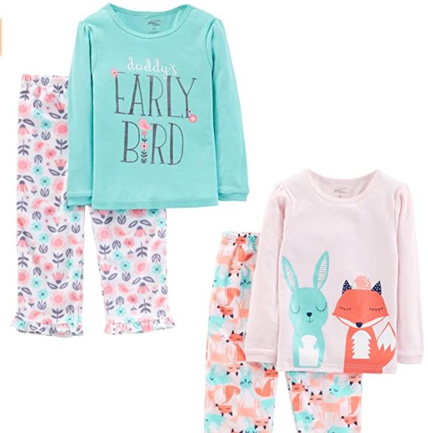 Simple Joys by Carters Baby Boys Toddler 4-Piece Pajama Set,