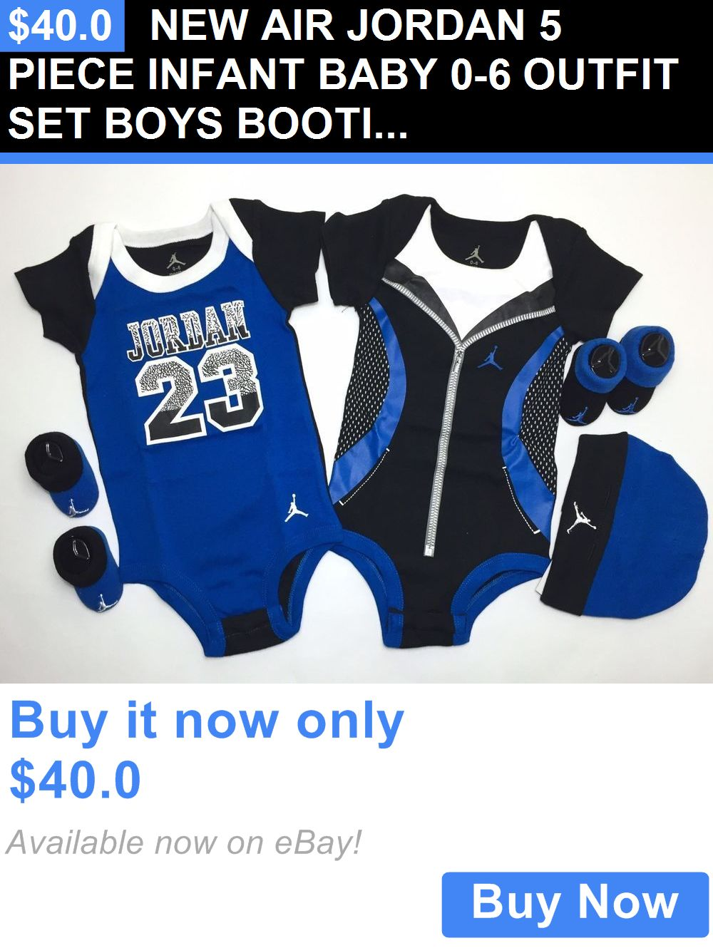 7242e084f0a3 Baby Boys Clothing And Accessories: New Air Jordan 5 Piece Infant Baby 0-6 Outfit  Set Boys Booties Bodysuits Cap BUY IT NOW ONLY: $40.0