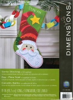 Dimensions Felt Applique Kit - Santa Stocking, Christmas