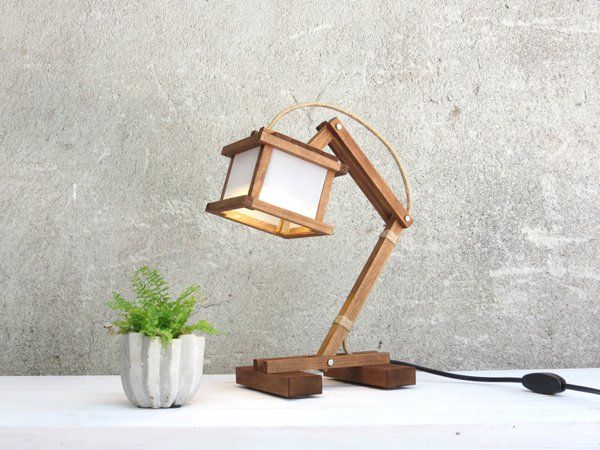 30 Creative Lamp Ideas Cuded Creative Lamps Cube Lamps Wooden Desk Lamp