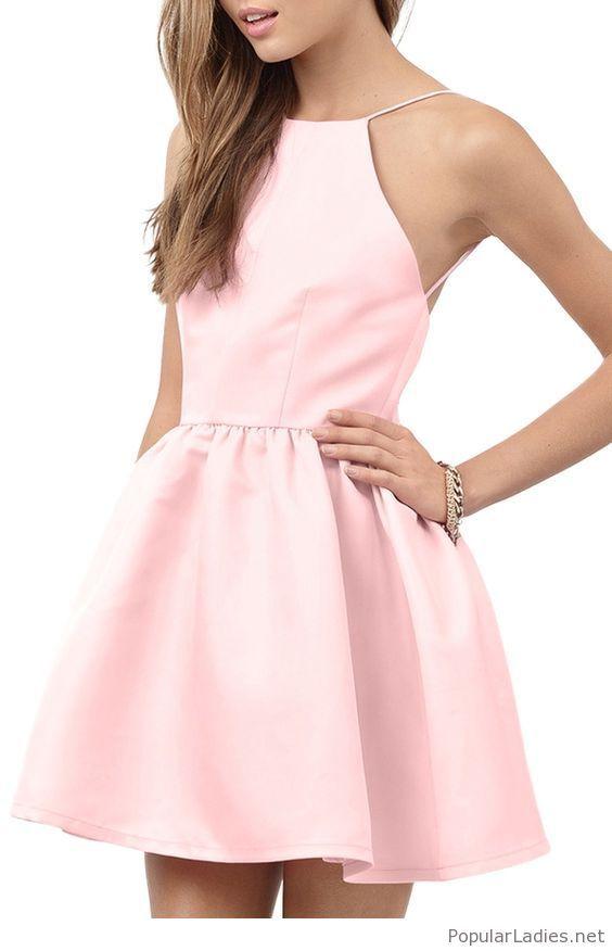 c7a46bc63385f5 Lovely light pink short dress design in 2019 | Dresses | Dresses ...