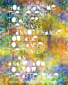 serenity prayer 8x10 art print home decor desk decor by eternitee