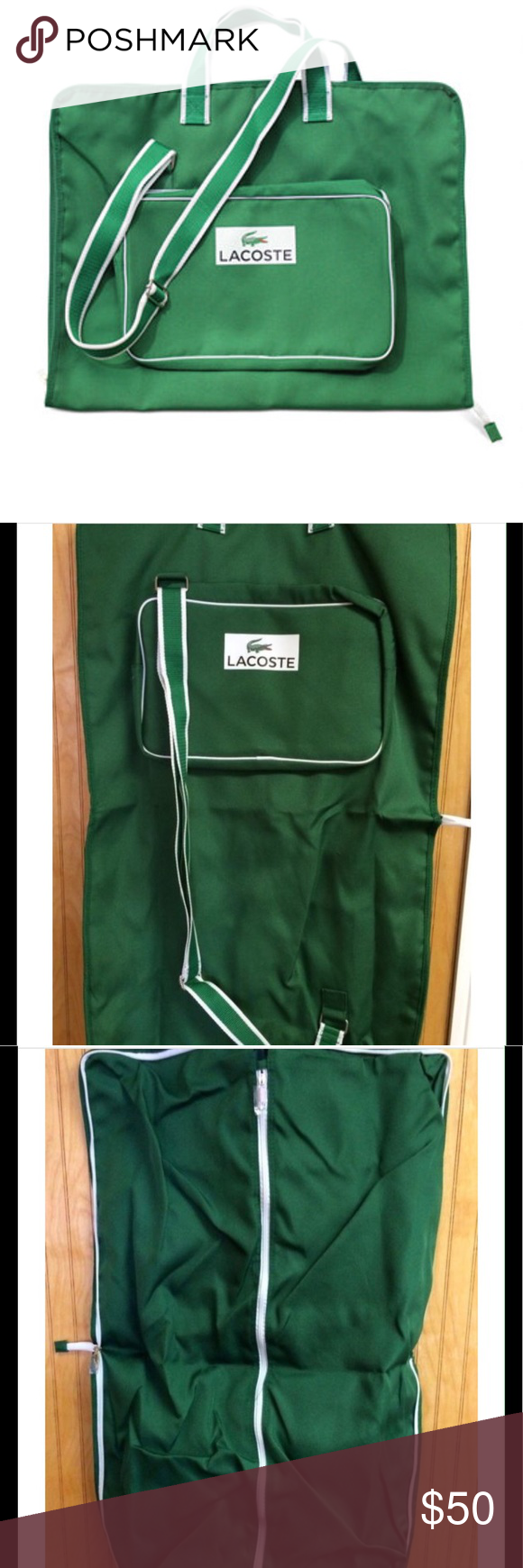 Lacoste Logo Splashed Garment Bag Brand New Unzip Once For A
