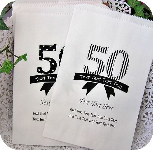 Custom Birthday Candy Treat Bags