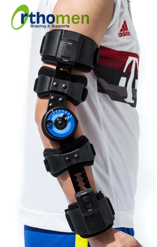 ac5ad8df9e Orthomen ROM Post Op Elbow Brace for Hyperextension--Indications:  Post-operative immobilization or ROM control for the elbow Conservative  treatment of elbow ...