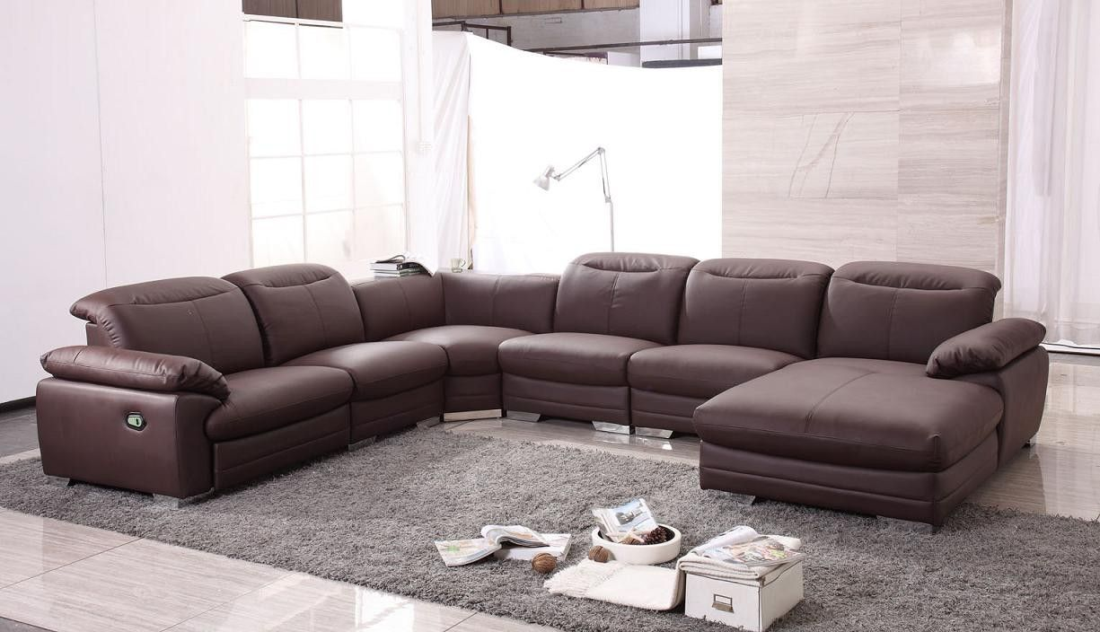 Divani Incanto Group Modern Contemporary Sectional Sofa With Recliners Furniture