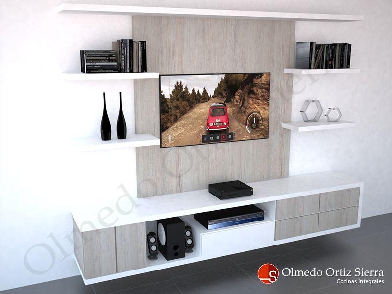 Dise o de mueble para tv moderno y personalizado ideas for Diseno de muebles para tv modernos