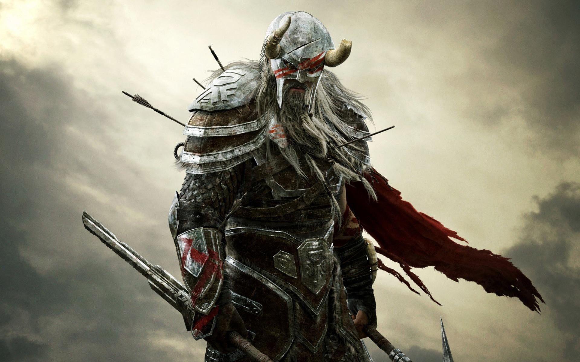 Nord Elder Scrolls Wallpaper Video Games The Elder Scrolls Online The Elder Scrolls Fantasy Art Warrior 1 Elder Scrolls Elder Scrolls Online Skyrim Wallpaper