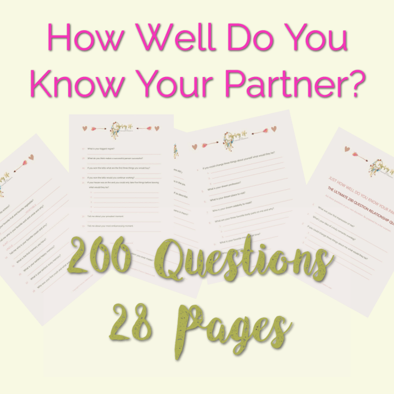 Printable questionnaire for couples