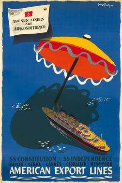 George Renevey, American Export Lines, 1950