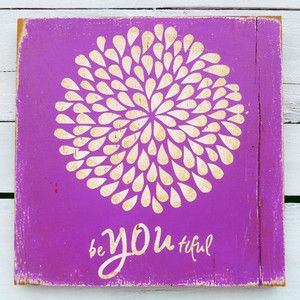 BeYOUtiful Sign Purple, 29€, now featured on Fab.