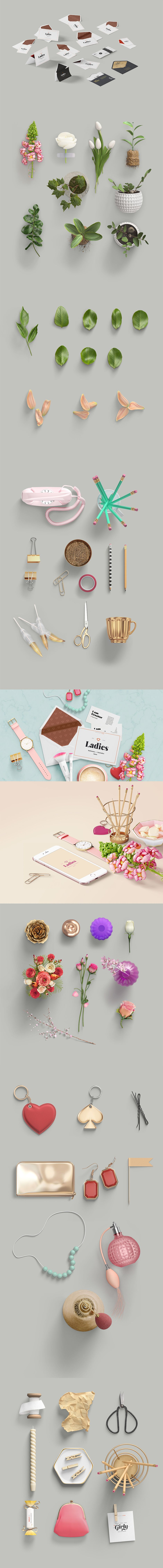 girly stationery mockup creator fave fonts graphics pinterest