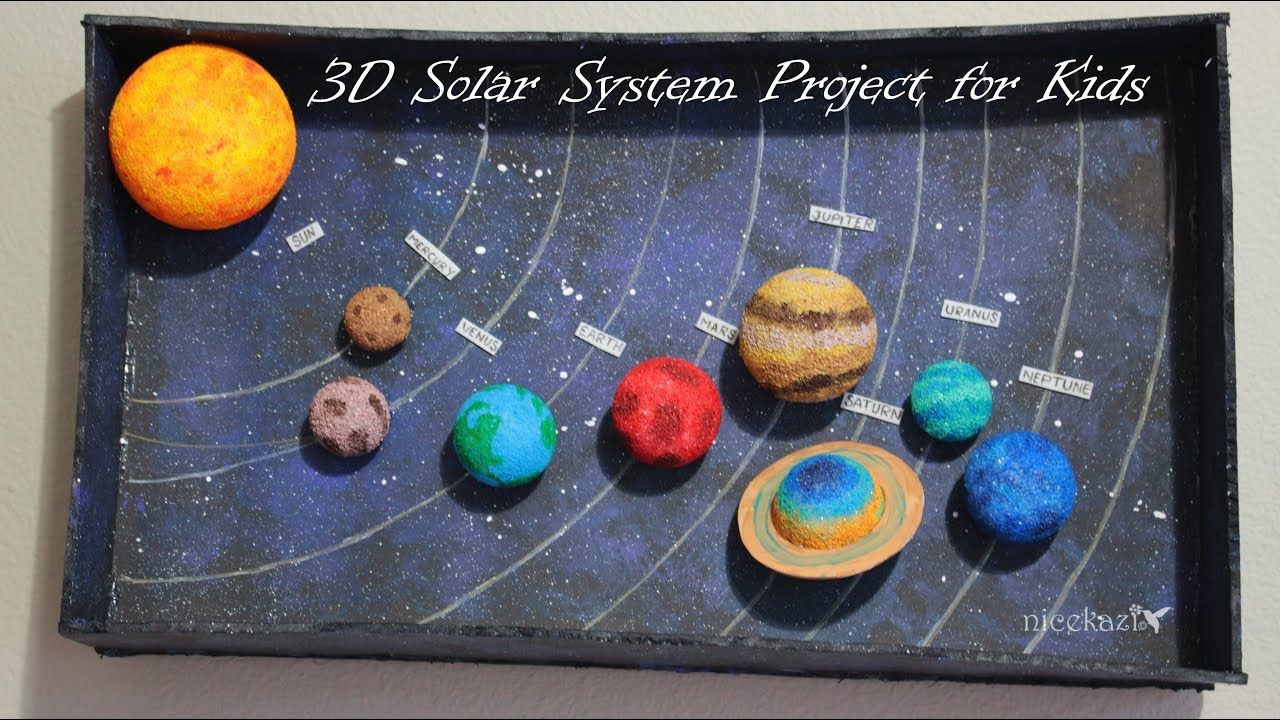 How to make 3D Solar System Project for Kids DIY By Me