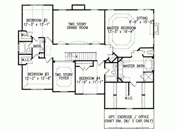 This Closet With Exercise Room Office Craft Room Mybungalow Org Craftsman Style House Plans House Plans Floor Plan Design