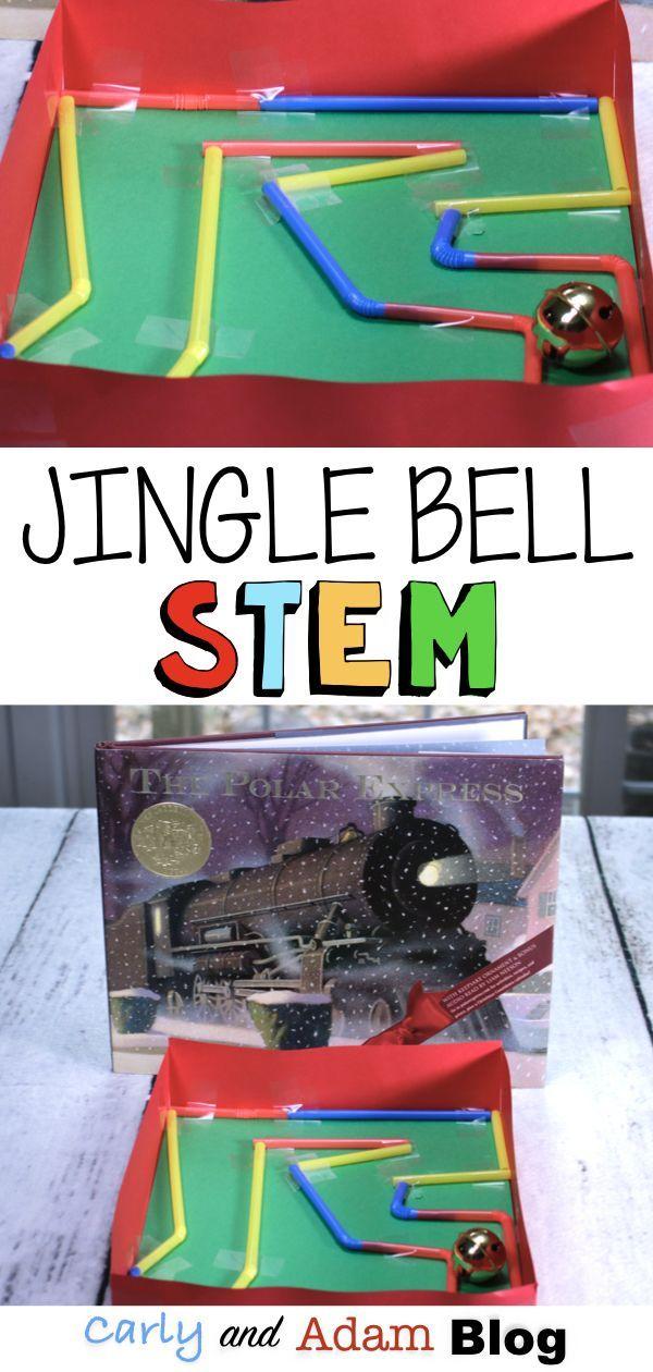 Build a Jingle Bell Maze STEM Activity #stemactivitieselementary