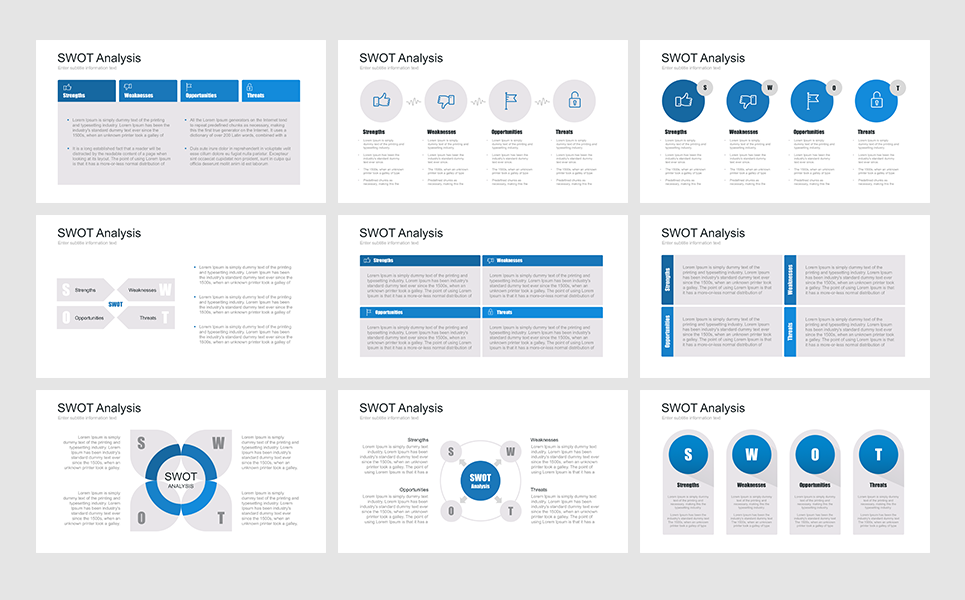 SWOT Analysis Marketing Tool PowerPoint Template