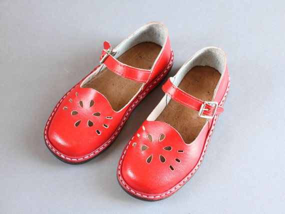 6bd2047b6ba86 size 10 Soviet children sandals 70s red sandals by somesoviet | kids ...