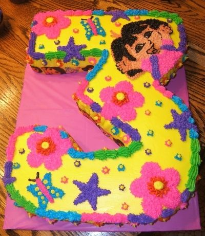 Dora Cake By Definetlydeb on CakeCentralcom Cake Cake and more