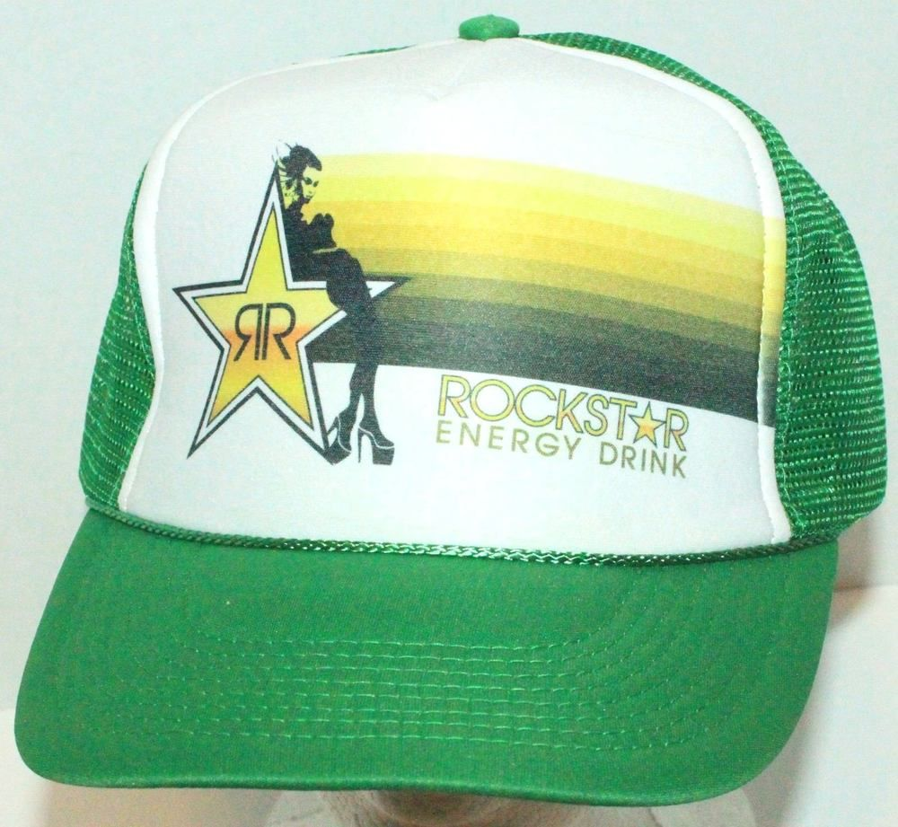 4cb1317418e ... discount code for rockstar energy drink nissun trucker snapback baseball  cap hat green new b07b4 e8a42 ...