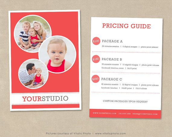 photography pricing template pricing list pricing guide template