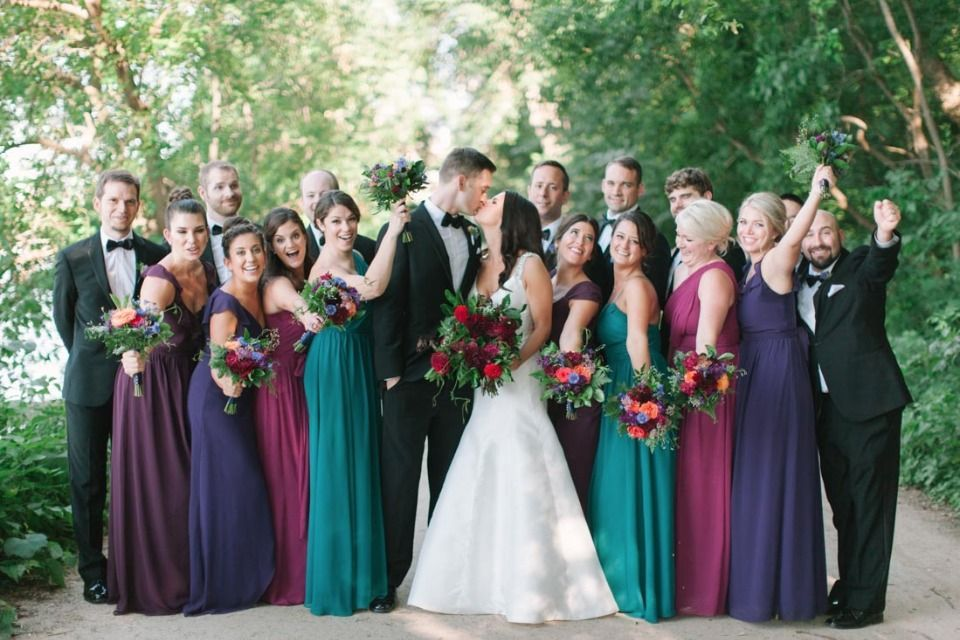 Jewel Love this Wisconsin wedding and its gem of a color palette! is part of Jewel tone wedding - Need any more hints at the theme, or have we mined that it for all it's worth  See what we did there
