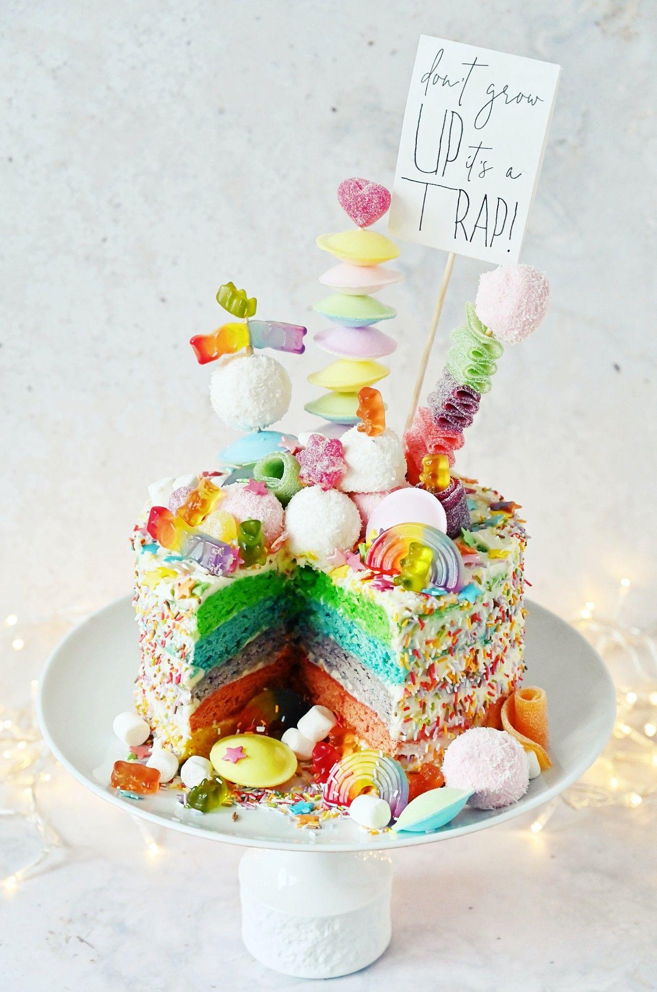 Regenbogen Torte Backen Rezept Fur Rainbow Candy Cake In 2020 Regenbogentorte Kuchen Kindergeburtstag Torte Kindergeburtstag
