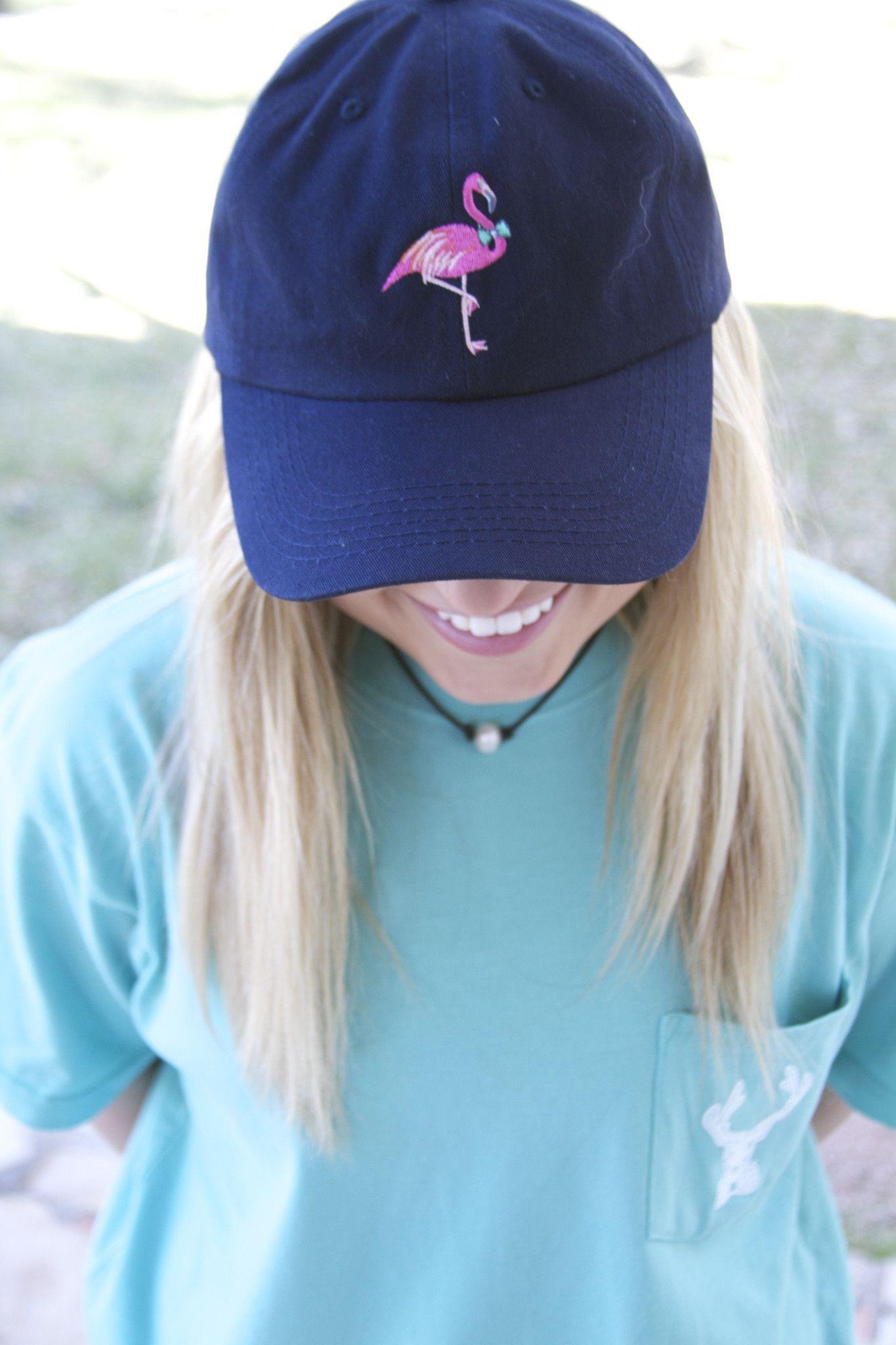 f455d9bed8c Cap - Flamingo - Navy   hats   Hats, Baseball hats, Snapback hats