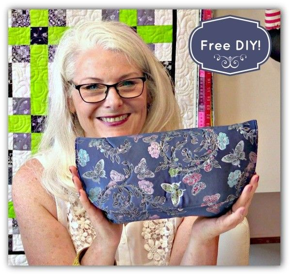 How to Sew this Simple Clutch that Looks Like a Designer Clutch Purse - Free Video Sewing Lesson