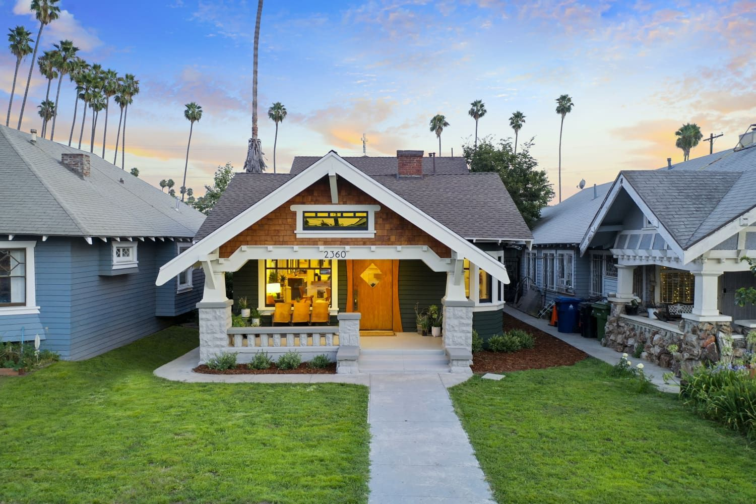 Look Inside This L A Craftsman For Sale Boasts Oak Floors And A Beautiful Brick Fireplace In 2020 Brick Fireplace Craftsman House Fireplace Apartment
