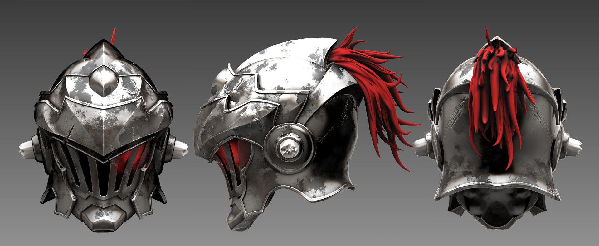 Artstation Goblin Slayer Helmet 3d Fanart Loong Nick Goblin