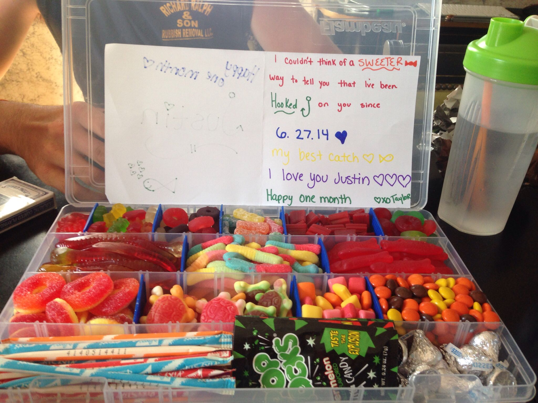 Candy tackle box for the best my fisherman boyfriend got for Monthly fishing box