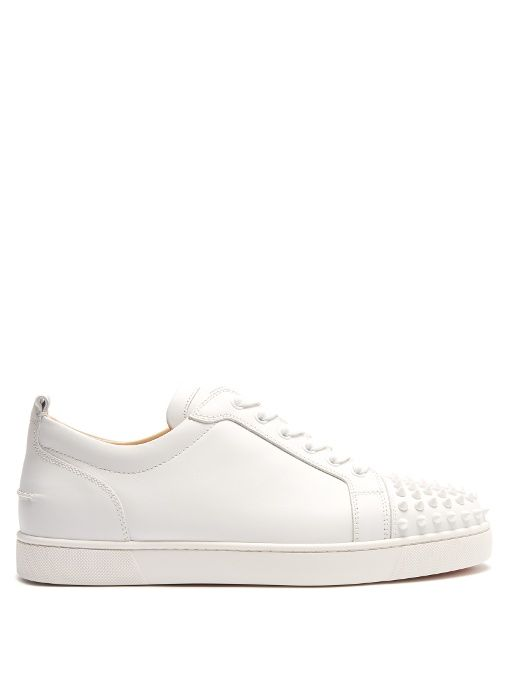 9e50dedd4f79 CHRISTIAN LOUBOUTIN Louis Junior Low-Top Leather Trainers.   christianlouboutin  shoes  sneakers