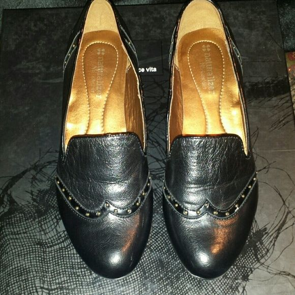 52aa42f04fe Black leather Oxford shoe Black with silver detailing it s a wingtip  smoking slipper all in one