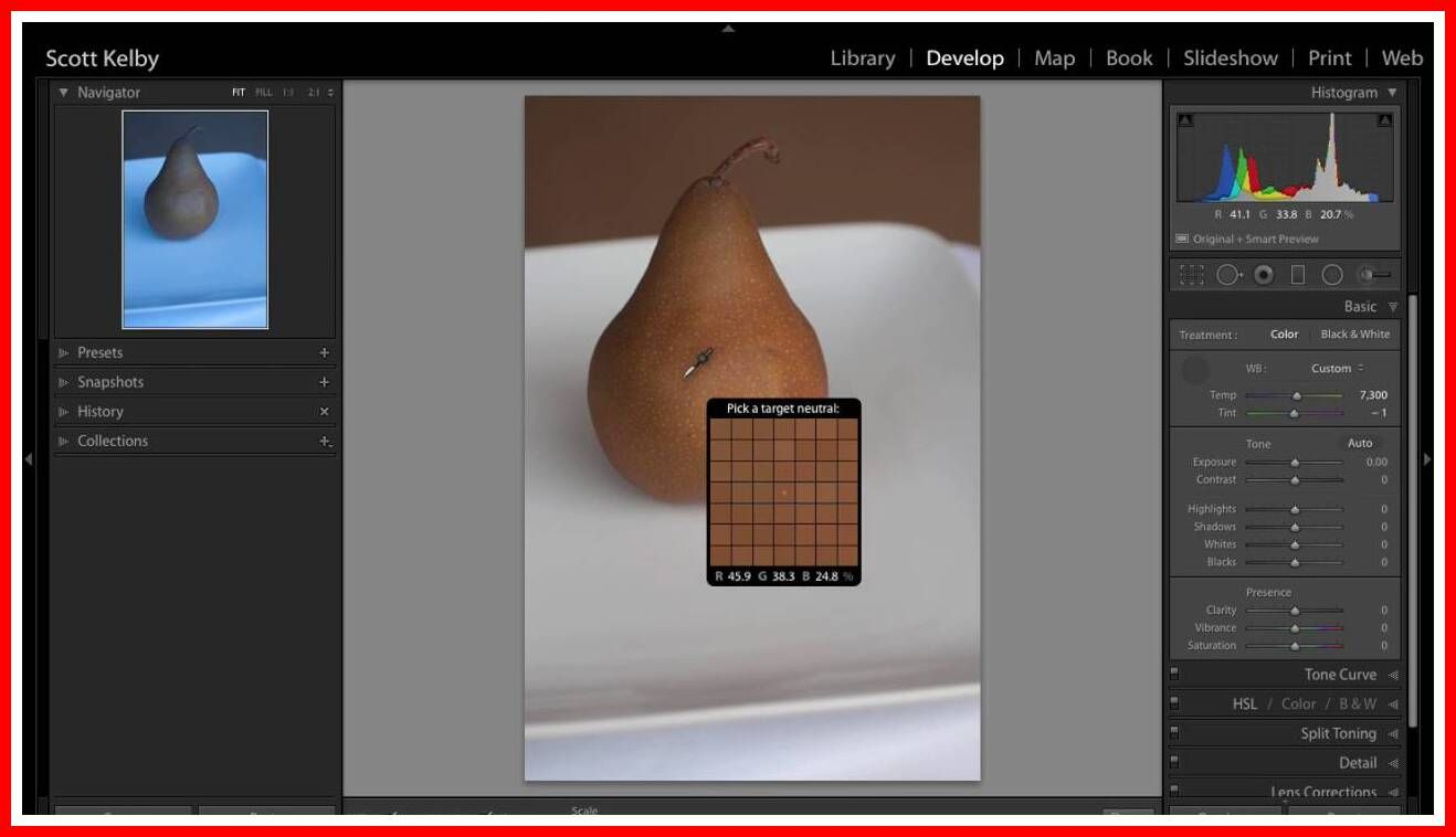 Adobe lightroom white balance