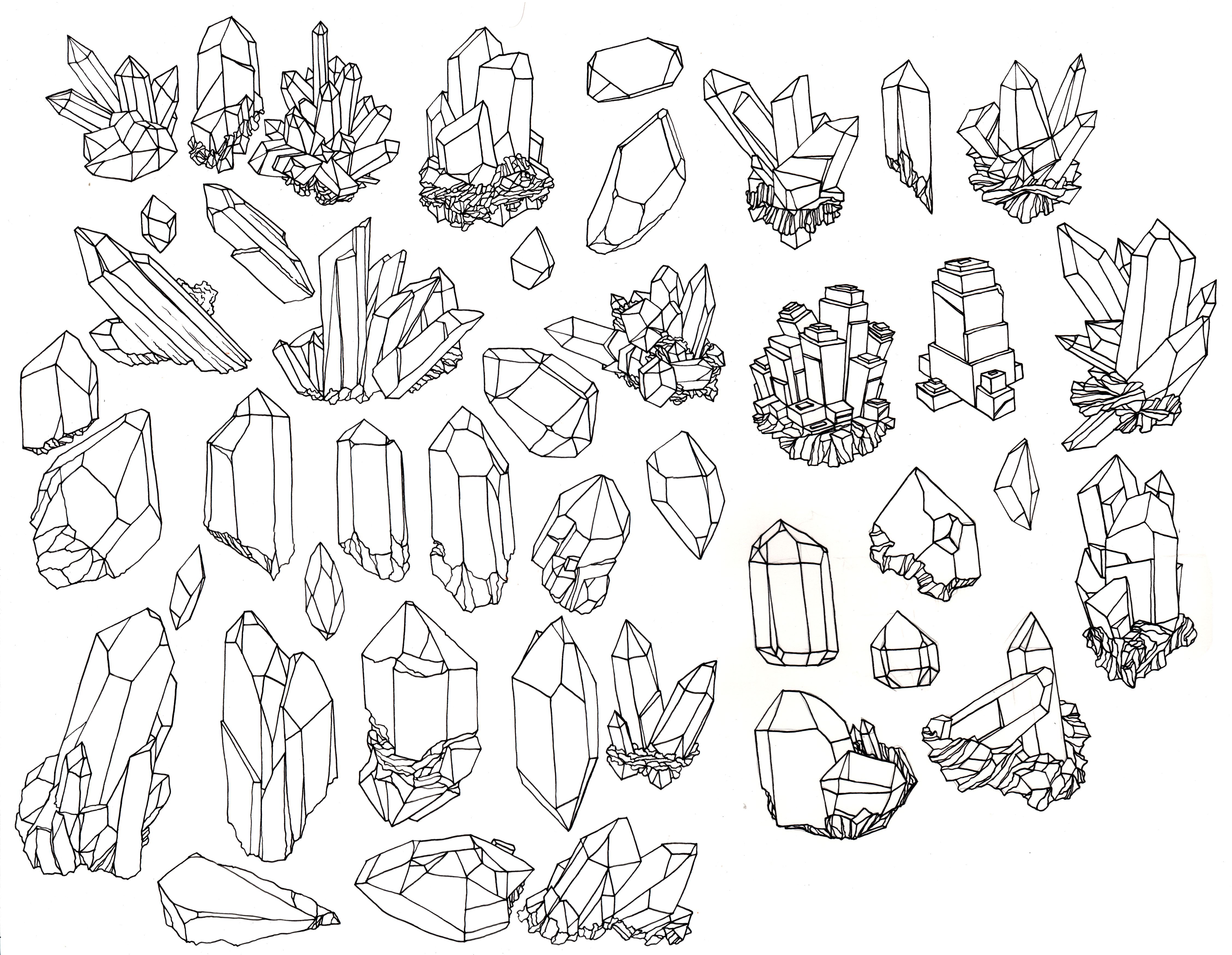 Vintage Crystal Illustration