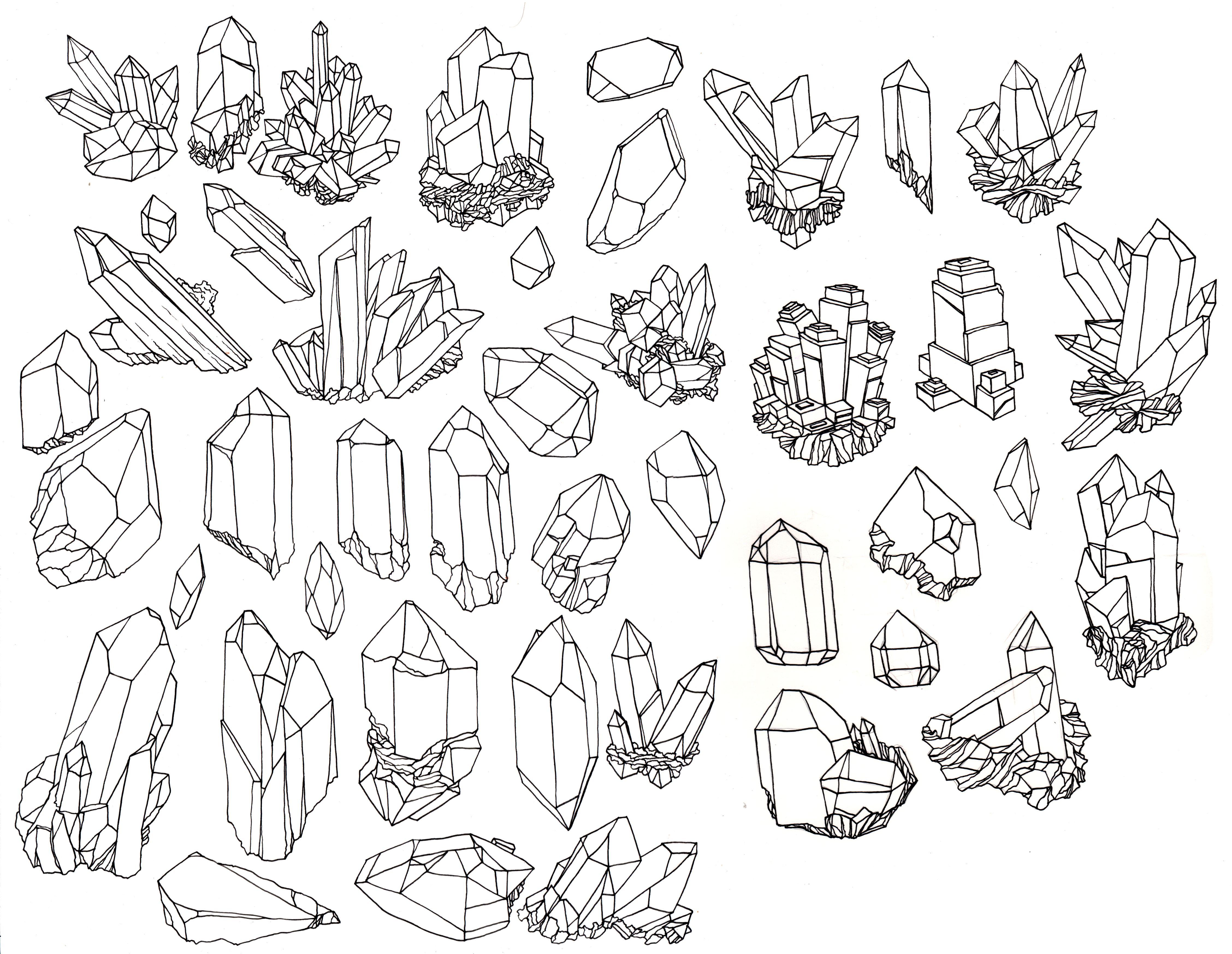vintage crystal illustration - Google Search | Paint, Pens ...