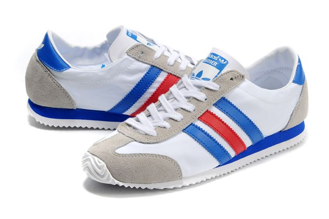 adidas red white blue