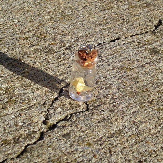 Photo of Heavy Rain – Drowning Origami Bird – Bottle Charm Necklace