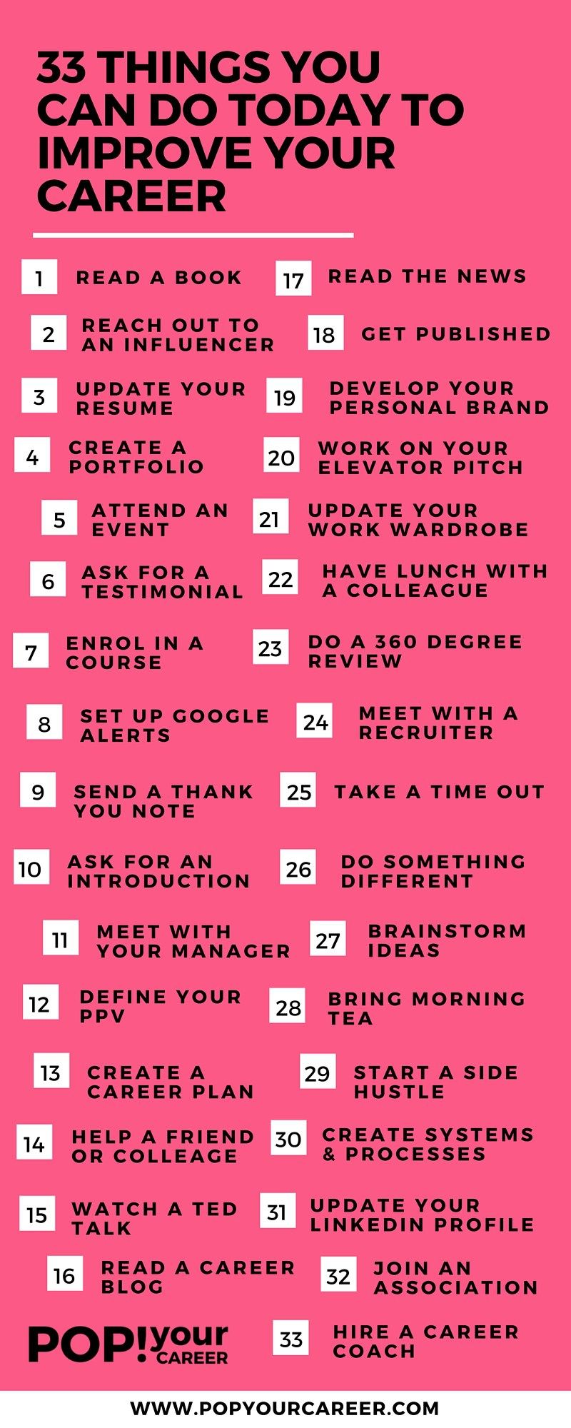 33 Things You Can Do Today To Improve Your Career Career