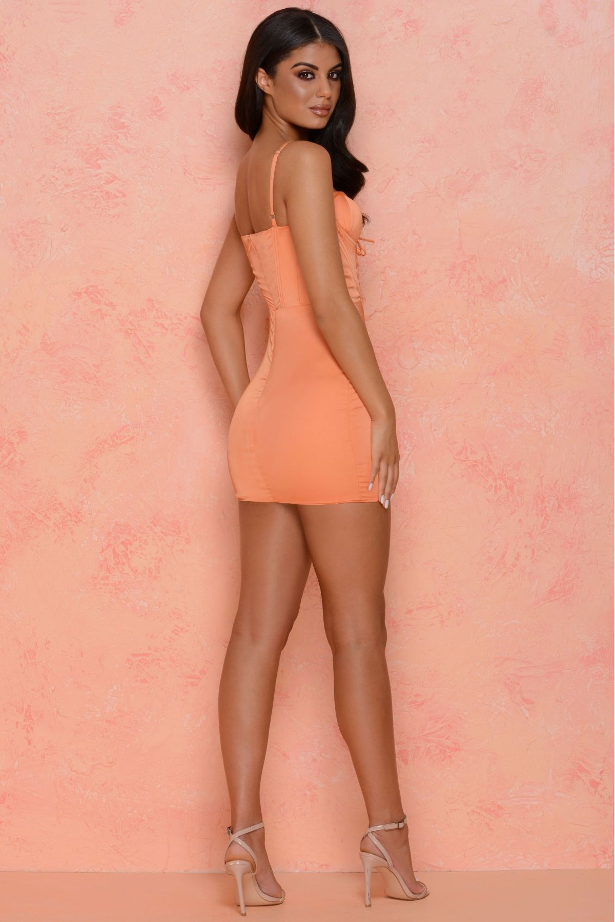 11ae7093f60 ... Clothing - Oh Polly by Ian. Under The Wire Curved Cup Satin Mini Dress  in Orange