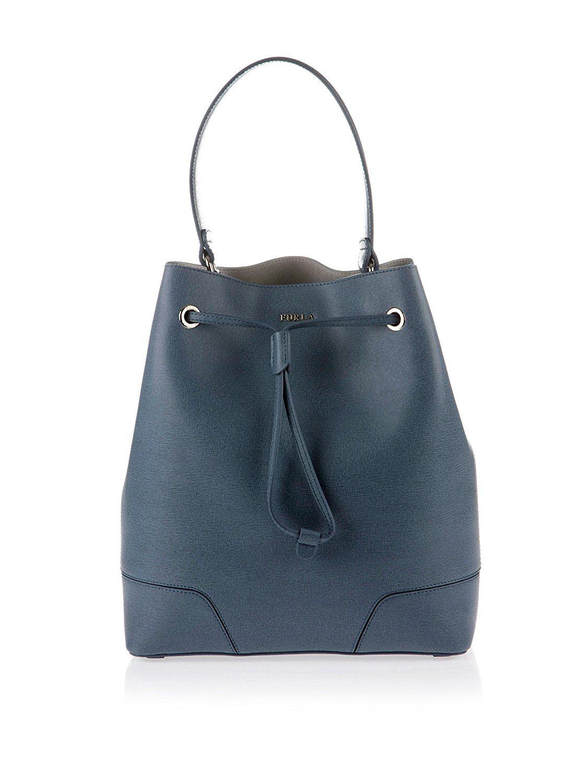 Furla Womens Stacy S Drawstring Top-Handle Bag Black (Onyx) Furla mWgeXQzYXP
